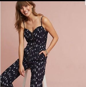 Anthropologie Ikat front zippered jumpsuit 4